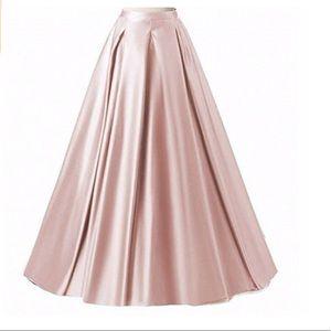 Formal satin skirt
